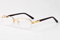 Wholesale Occhiali Da Sole Sunglasses - Top quality men sunglasses 2017 brand design big square semi rimless sun glasses men luxury unisex UV occhiali da sole