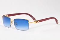 ingrosso occhiali caldi caldi-Vendita calda 2017 Progettista di marca Cool Men Eyewear Buffalo Horn Occhiali da sole Uomo Occhiali da sole polarizzati Occhiali sportivi Occhiali con custodia