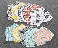 Wholesale Cute Childrens Leggings - 2017 ins Boys Girls Baby Childrens PP Shorts Pants Summer Cotton Harem Pants Cute Cartoon Toddler Kids Leggings Pants Boutique Clothes
