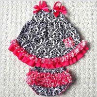 Wholesale Toddler Skirt Suspenders - High Quality Cotton Print Dresses 2017 Climbing Skirt Jumper Skirt Fabric Toddler Sets Girls Kid Clothes