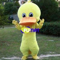 pato de lujo al por mayor-FUMAT Lovely Yellow Big Eye Duck Traje de la mascota de dibujos animados Escenario Rendimiento Disfraces Actividad de jardín de infantes Disfraz Personalización de imagen