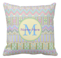 Wholesale Aztec Pillows - High quality wholesale factory direct custom aztec boho pastels monogram gazebo or pool fun double-sided pillow covers 16 inch 18inch 20inch
