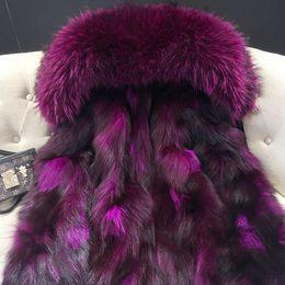 Wholesale Thick Korean Coat Women - MR & MRS FURS COAT LADY MINI FURS PARKAS FOX FURS LINING AND RACCOON FUR COLLAR KOREAN JAPAN