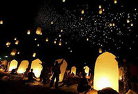 Wholesale Christmas Lantern Chinese - Flying Lantern KONGMING lantern PRAYING LANTERN SKY CHINESE LANTERNS