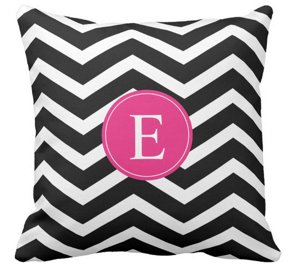 Wondrous High Quality Wholesale Factory Direct Custom Black White Chevron Bright Monogram Double Sided Pillow Covers 16 Inch 18Inch 20Inch Outdoor Throw Gmtry Best Dining Table And Chair Ideas Images Gmtryco