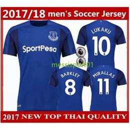 Wholesale New Season Football Soccer Jerseys - Top quality 2017 2018 new season Everton home soccer jersey 17 18 Everton jerseys LUKAKU BARKLEY football shirts free shipping