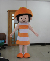 Wholesale Mascot Costumes For Girls - Hot sale Adult pumpkin girl mascot costume pumpkin girl costume pumpkin mascot costume for Hallowmas just like the picture