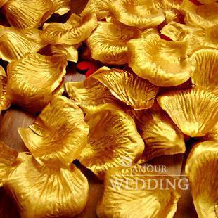 Gold Silk Rose Petals Wedding Favour Party Flower 20 Bags bag