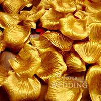 altın ipek yaprakları toptan satış-Altın İpek Gül Yapraklı Düğün Favor Parti Çiçek 20 Torba (torba başına 100 adet)