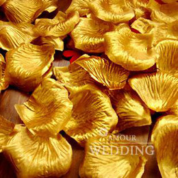 Gold Silk Rose Petals Wedding Favor Party Flower 20 Beutel (100 Stück pro Beutel)