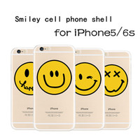 Wholesale Smile Phone Cases - 1-4 FOR Apple 6S simple smile, silicone soft shell, iPhone6 7 mobile phone shell, 6 7plus smiling face, full package protection cover