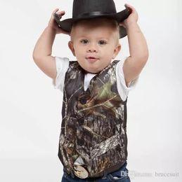 $enCountryForm.capitalKeyWord Australia - Airtailors Camouflage Kid's Vests Camo Boy's Formal Wear Real Tree Vest Cute V-Neck Sleeveless Vest For Wedding Kids Formal Wear Custom Made