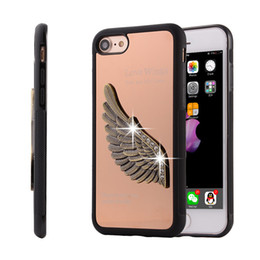 """Wholesale Iphone Wings Cases Fashion Wholesale - Luxury TPU + Metal fashion love Aluminum New Angel wing 3D Rhinestone Phone Case Cover for iPhone 7 4.7"""""""