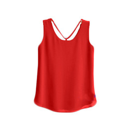 $enCountryForm.capitalKeyWord UK - new brand Fashion Summer Women Solid Color Clothes Chiffon Tops Sleeveless blouse nice and cool T shirt no.411