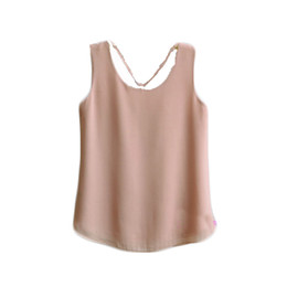 $enCountryForm.capitalKeyWord UK - new brand Fashion Summer Women Solid Color Clothes Chiffon Tops Sleeveless blouse nice and cool T shirt no.406