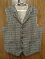 Wholesale Tooth Suit - Houndstooth Tuxedo Vest British Groom Vests Vintage Mens Suit Vest Prom Groomsmen Wedding Vest Design Custom Made Waistcoat Men Hounds tooth