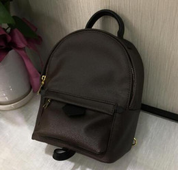 Wholesale Mini School Bags - High quality Women's Palm Springs Backpack Mini Female backpacks women handbag printing leather school bags