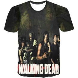 $enCountryForm.capitalKeyWord NZ - Walking dead T shirt Cool picture short sleeve gown TV play tees Anime printing clothing Unisex cotton Tshirt