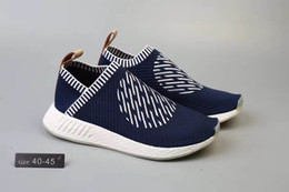 Wholesale NMD City Sock Ronin Shoes Mens CS2 Ronin Pack Navy White Sneakers Size Ship With Shoes Box