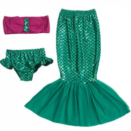 $enCountryForm.capitalKeyWord Canada - Kids girls Triangle Mermaid Sea-maid Bikini Swimwear beachwear 3pc Baby Swimsuit Swimwear Cosplay children beach dresses DHL free YY006