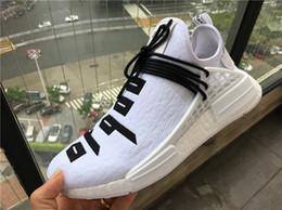 Wholesale real god - Pharrell NMD Human Race Real Quality X Fear OF GOD Black White Running Shoes NMD FOG Runner For Men Women Sale Online US 5-12