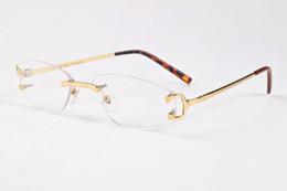 2017 gafas de sol sin montura Vintage Metal Retro moda mujer de lujo de gran tamaño gafas de sol cuadrado azul rojo claro lente diseñador gafas de sol de la marca desde fabricantes