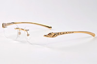 spotted cat - men designer buffalo horn glasses brand spot leopard panther women sunglasses with boxes eyewear