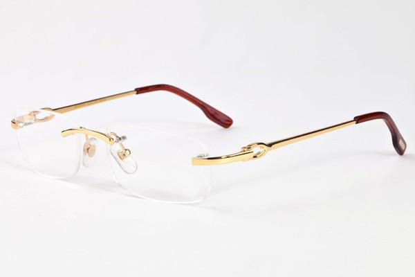 Randlose Sonnenbrille 2017 Mode Frauen Buffalo Sonnenbrille Klare Linsen Rahmen Spiegel Mode Luxus Womans Marke Vintage Sonnenbrille