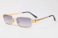 Wholesale button lens online – custom 2017 New Snap Glasses Metal Gold Silver Sunglasses Women Fashion Retro Snap Button Sunglasses Goggles Sun glasses