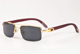 Deutschland Echtholz Sonnenbrille 2017 Polairzed Holz Gläser UV400 Semi Randlose Holz Sonnenbrille Marke Holz Sonnenbrille mit Box Fall supplier semi rimless glasses Versorgung