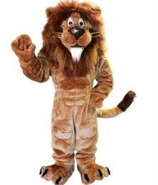 Wholesale Brave Dress - ems free shipping Lion Mascot Costume adult size brave Lion cartoon Costume Party fancy dress factory direct sale