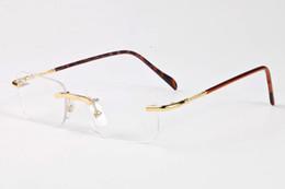 $enCountryForm.capitalKeyWord Canada - 2017 Retro Rimless Sunglasses Women Brand Designer Fashion Metal Alloy Frame Mirror Clear Lens For Female Male Eyewear Oculos de sol UV400