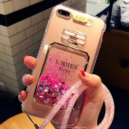 Transparent Lady First Phone Case Drift Schnell Sand Flüssiges Sand Glitter Bling Cases für iPhone 6 6Plus 7 7 Plus-transparente Abdeckung