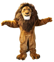 Wholesale Lion Adult Costumes - Majestic Lion Character Cartoon Mascot Costume Adult Size Christmas Costume Fancy Dres