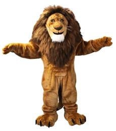 Wholesale Lions Mascot Costumes - Majestic Lion Character Cartoon Mascot Costume Adult Size Christmas Costume Fancy Dres