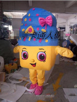Wholesale export high quality Personality coloured ice cream mascot costume adult size can be customized mascot costume party dress