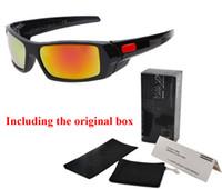 Wholesale cycling online - 2017 Brand sports sunglasses men women with Original box UV400 Mirror Cycling Sport Outdoor Eyewear Goggles mens sun glasses oculos de sol