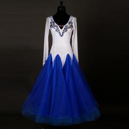 $enCountryForm.capitalKeyWord Canada - Standard Ballroom Dance 2017 Competition Dresses Rhinestone Marine Costumes For Women Blue Tango Waltz Dresses Modern Dance Dress FN130