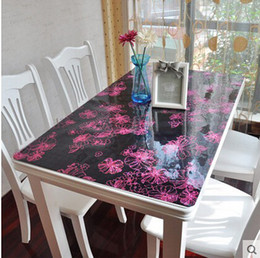 PASAYIONE Vintage Floral Pattern Table Mat For Dining Decor Free  Customizable Soft Glass Table Cloth Mats For Table Manteles