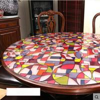 pasayione crculo suave mantel de mesa de cristal mesa redonda mantel de mesa mantel desechable impermeable superpuesto de mm grueso