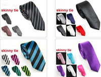 Wholesale Music Neck Ties - Slim Skinny Tie Neck Tie Mens Tie Necktie ties Neck TIE 10pcs lot #1756