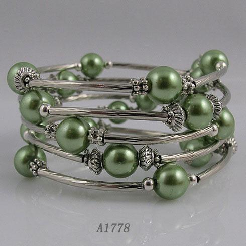 Braccialetto d'argento della donna della ragazza del braccialetto della bella madreperla di progettazione speciale bello trasporto libero A1778