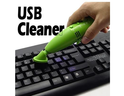 Computer Clean From Dust Out : Usb vacuum keyboard cleaner dust with led for