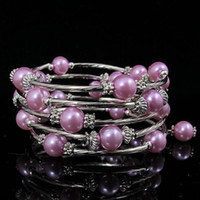 christmas pearl strand 2018 - special design beautiful mother-of-pearl silver bracelet girl's woman's bracelet free shipping A1776