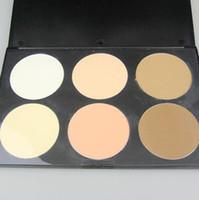 palette blush pcs großhandel-2 teile / los Professionelle 6 Farben Gedrückt Pulver Reparatur kapazität pulver Erröten Palette; make-up kompaktes pulver