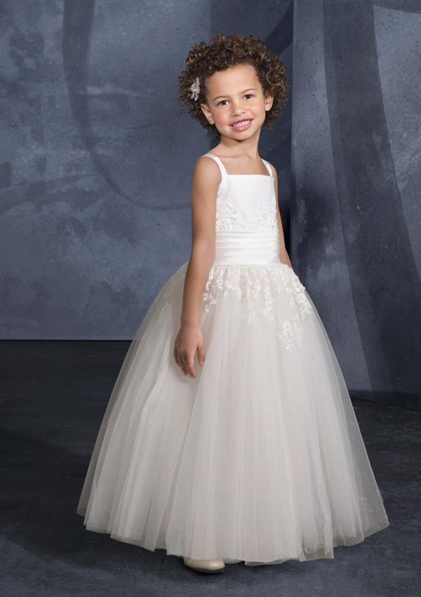 factory manufacturing simple style off shoulder tulle wedding flower girl dress
