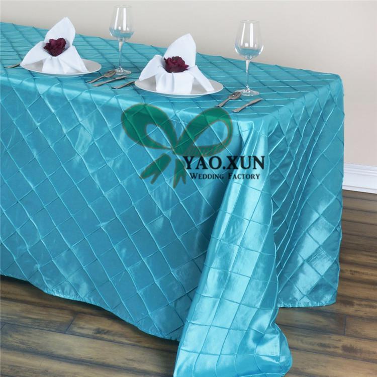 New Design Rechteckige Taft Pintuck Tischtuch \ Cheap Wedding Tischdecke Freies Verschiffen