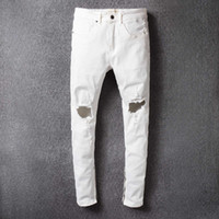 Wholesale Cargo For Mens - Mens Patchwork Hip Hop Ripped Robins Jeans Men Cargo Streetwear Biker Jeans Fear Of God Joggers Justin Bieber Clothing Robin Jeans For Men