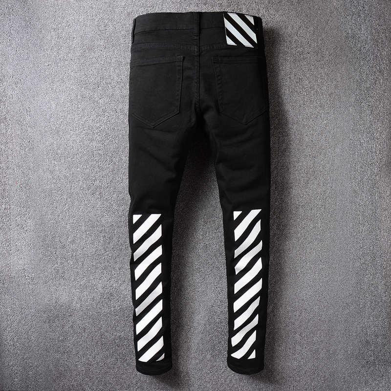 a3eb01741e9 2019 Designer Off White Jeans Streetwear Ripped Robin Jean For Men Denim  Skinny Mens Robins Jeans Jogger Pants Hip Hop Swag Black Biker Jeans From  Sl2015, ...