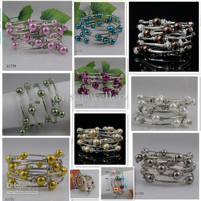 Speciaal ontwerp Mooie Moeder-of-Pearl Silver Bracelet Girl's Woman's Armband Gratis verzending A744B